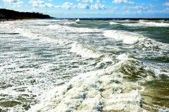 θάλασσα θυελλώδης Στοκ Φωτογραφίες