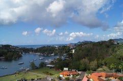 Θάλασσα και έδαφος τοπίων Στοκ εικόνα με δικαίωμα ελεύθερης χρήσης