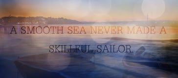 Θάλασσα και απόσπασμα Στοκ φωτογραφίες με δικαίωμα ελεύθερης χρήσης