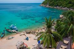 Θάλασσα και βάρκα. όμορφο νησί tao ko. Ταϊλάνδη Στοκ Εικόνες
