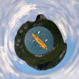 Θάλασσα και ουρανός νησιών με Στοκ Εικόνα