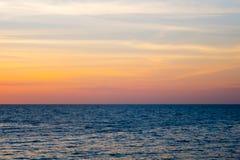 Θάλασσα και ουρανός Στοκ φωτογραφία με δικαίωμα ελεύθερης χρήσης