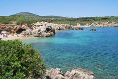Θάλασσα και παραλίες της Σαρδηνίας - της Ιταλίας Στοκ Εικόνα