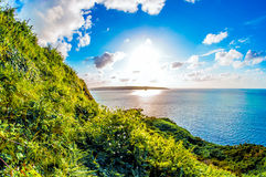 Θάλασσα και σύννεφα ουρανού ήλιων Στοκ φωτογραφίες με δικαίωμα ελεύθερης χρήσης