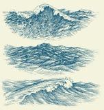 Θάλασσα και ωκεάνια κύματα ελεύθερη απεικόνιση δικαιώματος