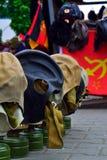 θάλασσα μασκών ατόμων αερίου Στοκ φωτογραφίες με δικαίωμα ελεύθερης χρήσης