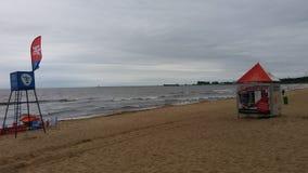 Θάλασσα παραλία-Βαλτικής Brzeźno Στοκ Φωτογραφία