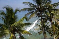 Θάλασσα σε Varkala στο κράτος του Κεράλα, Ινδία Στοκ φωτογραφία με δικαίωμα ελεύθερης χρήσης