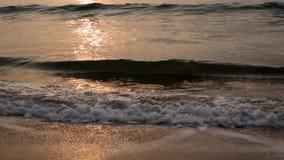 Θάλασσα στην ανατολή απόθεμα βίντεο