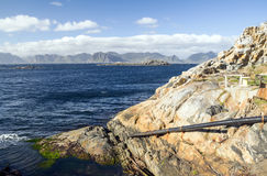 Θάλασσα στη βόρεια Νορβηγία Στοκ Εικόνες