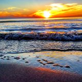 θάλασσα στιλβωτικής ουσίας Στοκ Εικόνες
