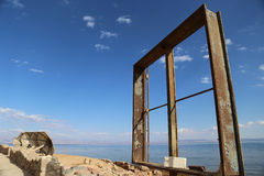 θάλασσα στο παράθυρο Στοκ φωτογραφία με δικαίωμα ελεύθερης χρήσης