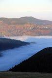 Θάλασσα σύννεφων πέρα από την κοιλάδα Munster Στοκ εικόνα με δικαίωμα ελεύθερης χρήσης