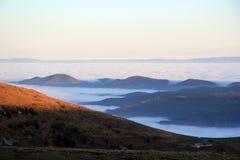 Θάλασσα σύννεφων πέρα από την κοιλάδα Munster Στοκ Εικόνα