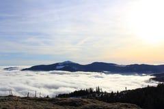 Θάλασσα σύννεφων πέρα από την πεδιάδα της Αλσατίας Στοκ εικόνες με δικαίωμα ελεύθερης χρήσης