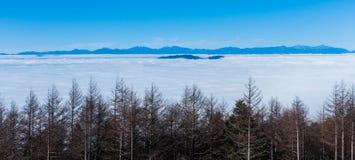 Θάλασσα σύννεφων στο βουνό του Φούτζι Στοκ Φωτογραφία