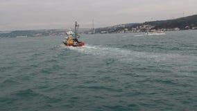 Θάλασσα, ταξίδι, πόλη της Ιστανμπούλ, το Δεκέμβριο του 2016, Τουρκία απόθεμα βίντεο