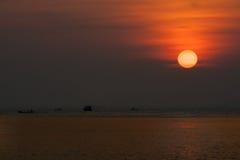 Θάλασσα Ταϊλάνδη ηλιοβασιλέματος Στοκ φωτογραφίες με δικαίωμα ελεύθερης χρήσης