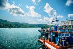 Θάλασσα Ταϊλάνδη ψαράδων Στοκ φωτογραφία με δικαίωμα ελεύθερης χρήσης