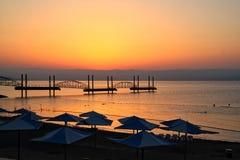 Θάλασσα της ανατολής Galilee Στοκ Φωτογραφίες