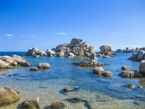 Θάλασσα της φυσικής επιφύλαξης Tamariccio, Κορσική, Γαλλία Στοκ φωτογραφία με δικαίωμα ελεύθερης χρήσης