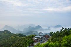 Θάλασσα των σύννεφων στο yao å°§å±±äº ` æµ βουνών· Στοκ Εικόνα