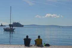 θάλασσα χαλάρωσης Στοκ εικόνες με δικαίωμα ελεύθερης χρήσης