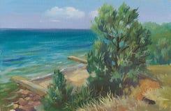 Θάλασσα Blak διανυσματική απεικόνιση