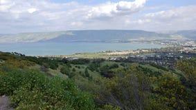 Θάλασσα Galilee, τα ύψη Γκολάν, Ισραήλ Στοκ Φωτογραφία