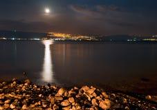 Θάλασσα Galilee, τοπίο νύχτας στοκ φωτογραφία με δικαίωμα ελεύθερης χρήσης