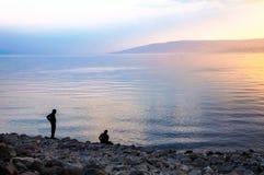 Θάλασσα Galilee, το βράδυ Στοκ Εικόνες