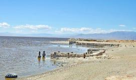 Θάλασσα Salton: Κεκλιμένη ράμπα έναρξης Στοκ Φωτογραφίες