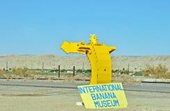 Θάλασσα Salton: Μουσείο μπανανών στοκ εικόνες
