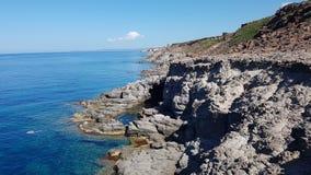 Θάλασσα Sant'Antioco, Σαρδηνία Στοκ εικόνα με δικαίωμα ελεύθερης χρήσης