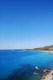 Θάλασσα Villasimius, στη Σαρδηνία, Ιταλία Στοκ εικόνες με δικαίωμα ελεύθερης χρήσης