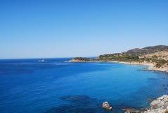 Θάλασσα Villasimius, στη Σαρδηνία, Ιταλία Στοκ εικόνα με δικαίωμα ελεύθερης χρήσης