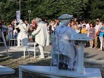 Θέατρα CPAA, Κίνα - αγάλματα διαβίωσης απόθεμα βίντεο