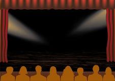 θέατρο απόδοσης διανυσματική απεικόνιση