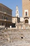 θέατρο καταστροφών apulia lecce ρωμ&al Στοκ φωτογραφία με δικαίωμα ελεύθερης χρήσης
