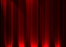 θέατρο κουρτινών Στοκ φωτογραφία με δικαίωμα ελεύθερης χρήσης