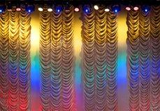 θέατρο κουρτινών Στοκ φωτογραφίες με δικαίωμα ελεύθερης χρήσης