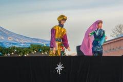 Θέατρο μαριονετών οδός-τέχνης στις διακοπές στοκ εικόνες με δικαίωμα ελεύθερης χρήσης