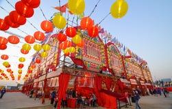 Θέατρο μπαμπού δυτικού Kowloon στοκ εικόνες