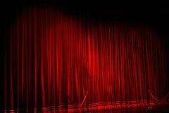 θέατρο παρουσίασης κινηματογράφων κουρτινών Στοκ φωτογραφία με δικαίωμα ελεύθερης χρήσης
