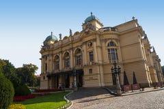 Θέατρο στην Κρακοβία Πολωνία Στοκ Φωτογραφία