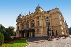 Θέατρο στην Κρακοβία Πολωνία Στοκ φωτογραφία με δικαίωμα ελεύθερης χρήσης