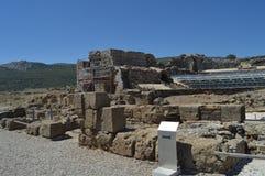 Θέατρο στη ρωμαϊκή πόλη Baelo Claudia που χρονολογεί στην παραλία του 2$ου αιώνα Π.Χ. της Μπολόνιας Tarifa Φύση, αρχιτεκτονική, ι στοκ φωτογραφία με δικαίωμα ελεύθερης χρήσης