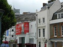 Θέατρο σφαιρών στο South Bank στο Λονδίνο Southwark Στοκ εικόνα με δικαίωμα ελεύθερης χρήσης