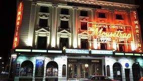 Θέατρο του ST Martins στο Λονδίνο που παίζει τη Agatha Christie η ποντικοπαγήδα απόθεμα βίντεο