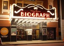 Θέατρο Biograph τη νύχτα, Σικάγο στοκ φωτογραφία με δικαίωμα ελεύθερης χρήσης